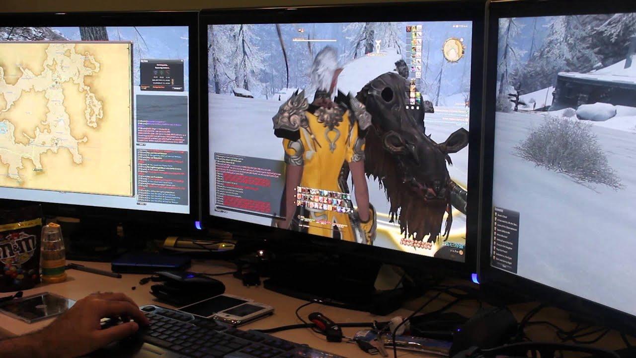 FFXIV ARR Nvidia Surround 8060x1600 Resolution GTX