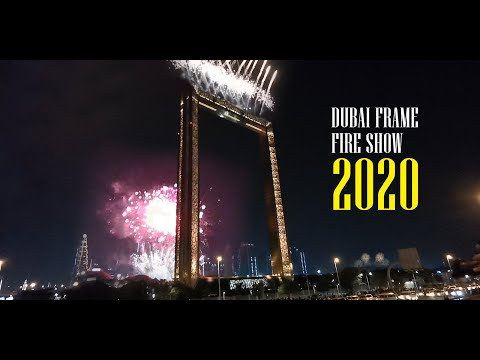 Dubai Frame fireworks 2020