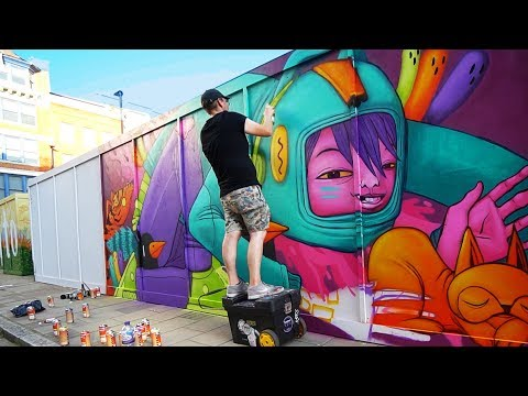 The Stressful Part Of Being A Traveling Mural Artist | Ten Hun Euro Tour Ep. 11