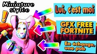 🔴JE AM GFX - FREE - PRO FORTNITE🔴 SPEED ART (MINIATURE) IN VIDEO