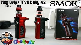 SMOK Mag Grip Kit 100w/TFV8 Baby V2 Review & A Chance To Score One!