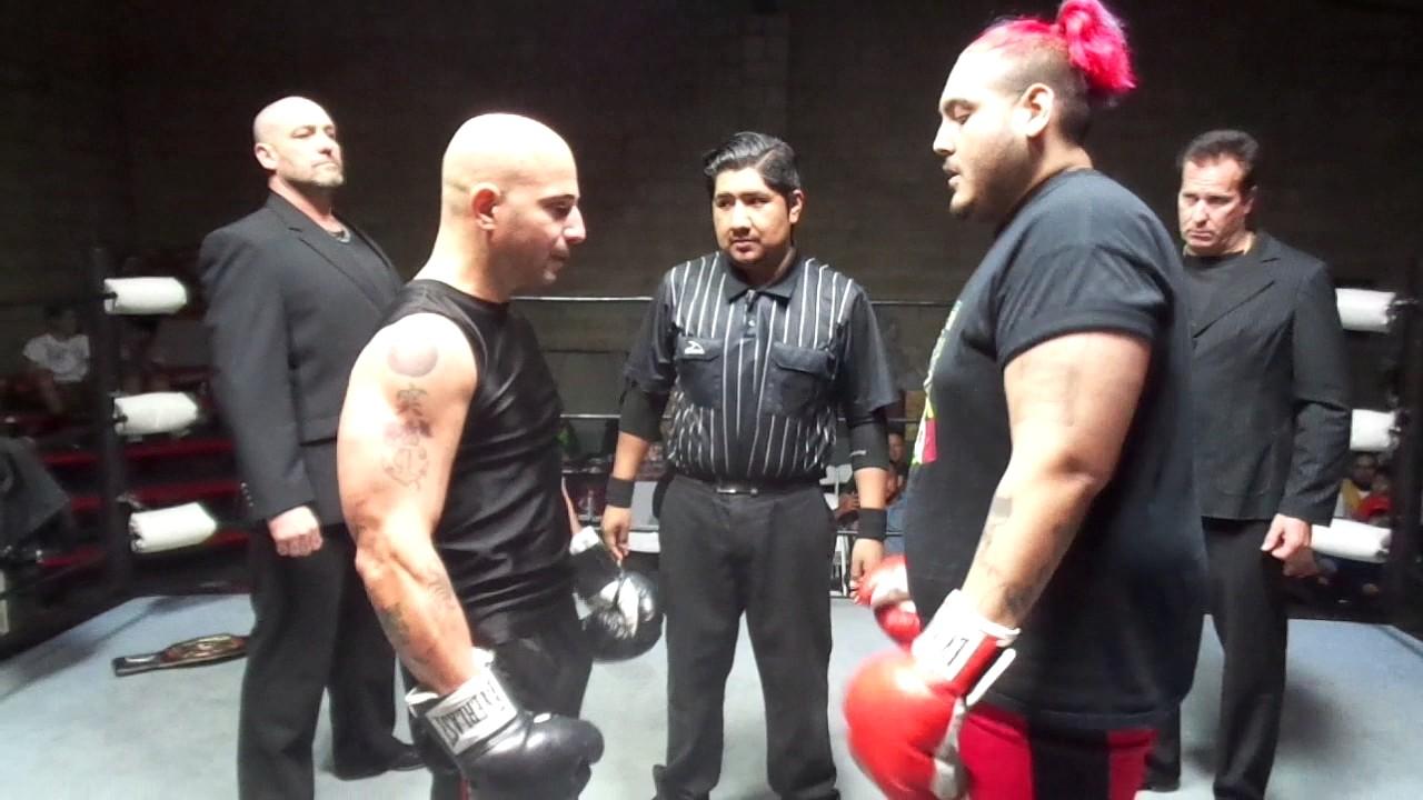 Lb Champion Razor Rizzotti Vs Lb Opponent In Gut Punching Combat Sport