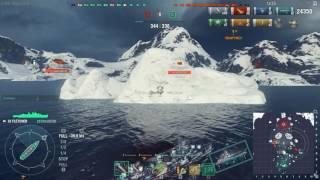 World of Warships Gameplay: Fletcher самый лучший эсминец