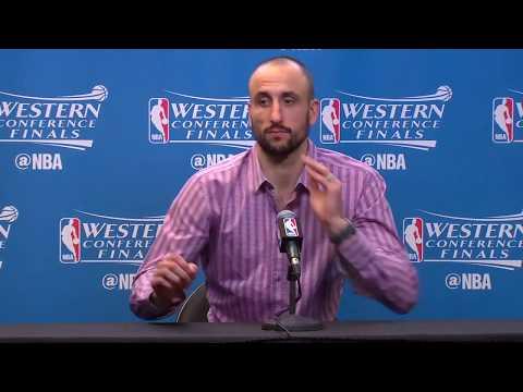 Manu Ginobili's Final Postgame Interview Before (likely) Retiring - 5/23/2017 Spurs NBA Playoffs