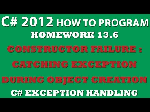 13-6 C# Exception Handling At Constructor Failure