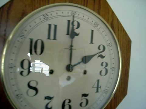 Howard Miller Oak School House Westminster Wall Clock