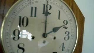 Howard Miller Oak School House Westminster Wall Clock