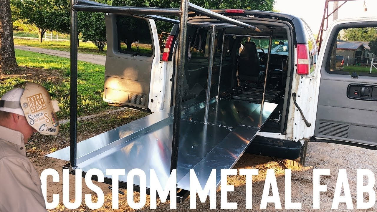 CUSTOM ROLLING CLOTHES RACK FOR AN OLD CHURCH VAN (TIPS & TRICKS FOR CUSTOM WELDING PROJECTS)