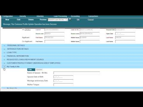 Microfinance loan processing and banking software