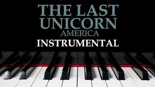 The Last Unicorn - America - PIANO INSTRUMENTAL - lyrics - GOHA