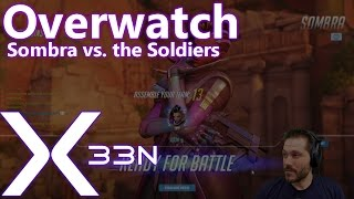 Overwatch: Sombra vs. the Soldiers