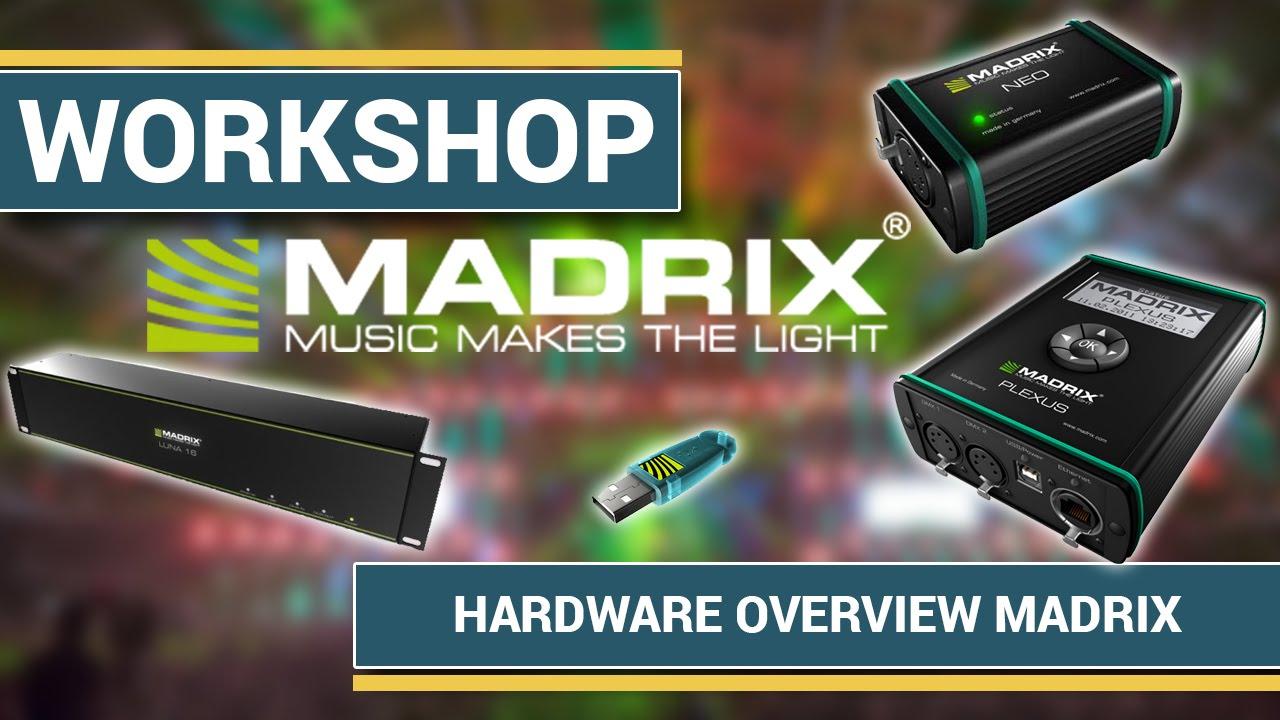 Ultimate MADRIX Hardware Overview:  NEO / PLEXUS / LUNA | Beginner Tutorial #1 ENG |