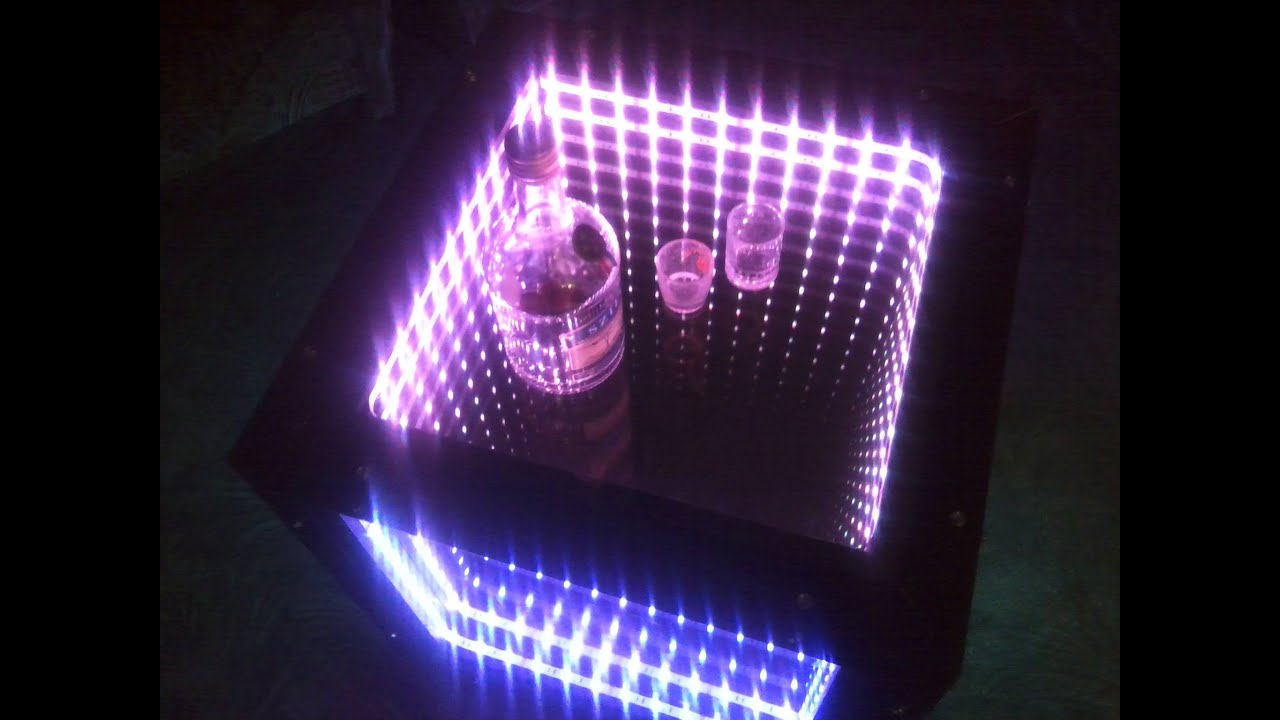 Infinity Mirror Table How To Make Youtube