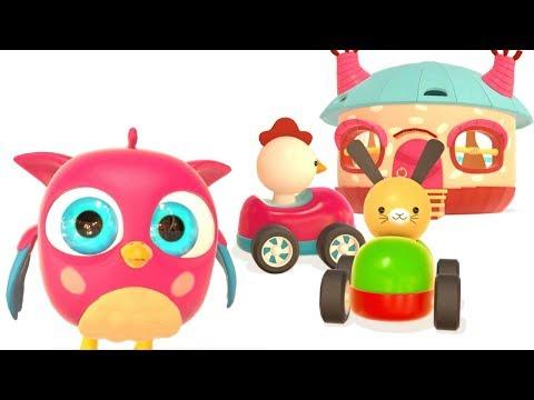 Kindercartoon. HopHop Und TokTok Gehen Auf Den Spielplatz. Lehrreiches Video Für Kleinkinder