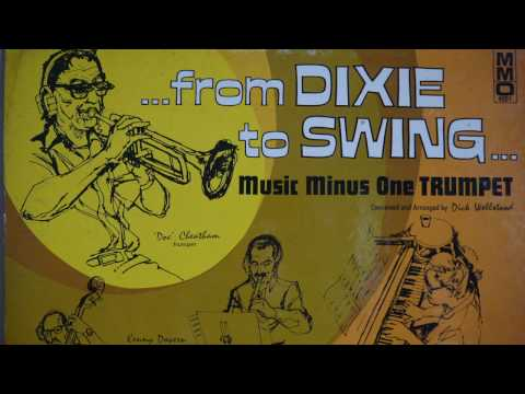 """From Dixie To Swing""   Music Minus One Trumpet -  MMO 4091"