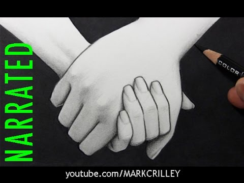 How to Draw People Holding Hands [Narrated Step by Step]