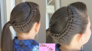 Line Braid wrapping around!! - Line Braid into a side Ponytail!! | Chikas Chic