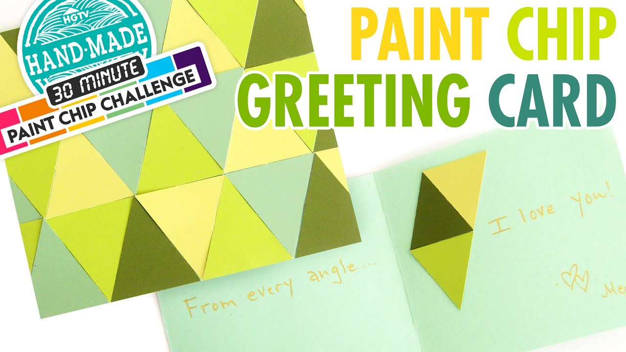 DIY Paint Chip Greeting Card - Meg\'s 30 Minute Craft Challenge ...