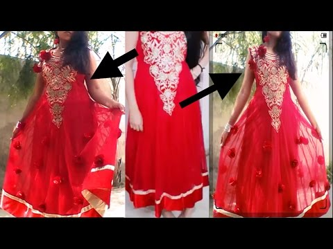 kaise purani anarkali dress ko nya designer floral look dein/in hindi