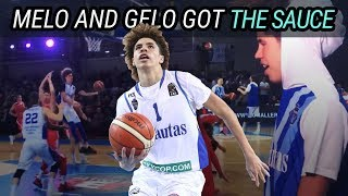 LaMelo Ball & Gelo Ball MAKE IT RAIN In Lithuania! Melo Heats Up & FOULS OUT 😱