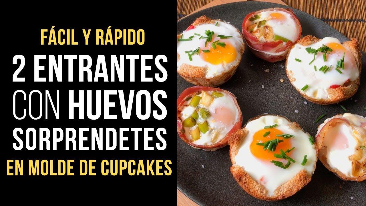 2 Entrantes Con Huevos Fáciles Y Sorprendentes Receta Con Molde De Cupcakes Al Horno
