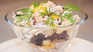 Салат с курицей и ананасами, рецепт 🍗🍍