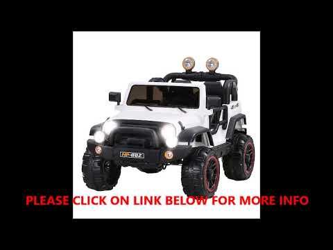 Uenjoy Jeeps Power Wheels 12v Children S Electric Cars Youtube