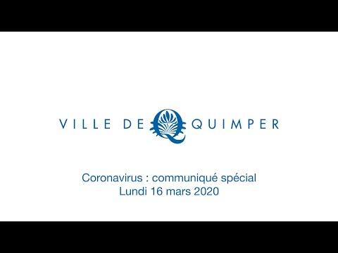 Communique coronavirus 16 mars 2020