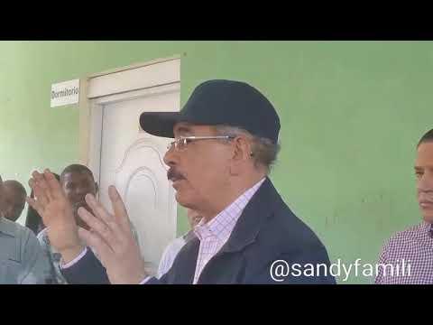 Presidente Danilo Medina se molesta en Elías Piña