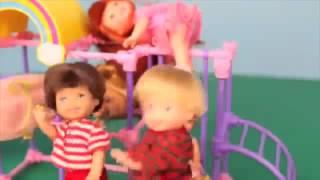 Frozen Elsa Kids at Barbie PLAYGROUND Park Daycare   Doll toys   movie
