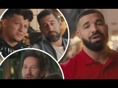 Drake and Paul Rudd join Patrick Mahomes and Aaron Rodgers as stand-ins in State Farm's hilarious Su