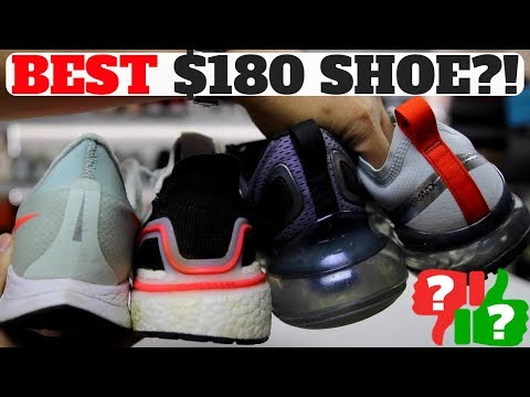 BEST  180 SHOE  Nike Pegasus TURBO vs UltraBOOST 19 vs AIR MAX 720 vs AIR  VAPORMAX 19!  120 (retail  180)  ends tonight! Nike Pegasus Turbo w  ZOOM X    ... 940513814