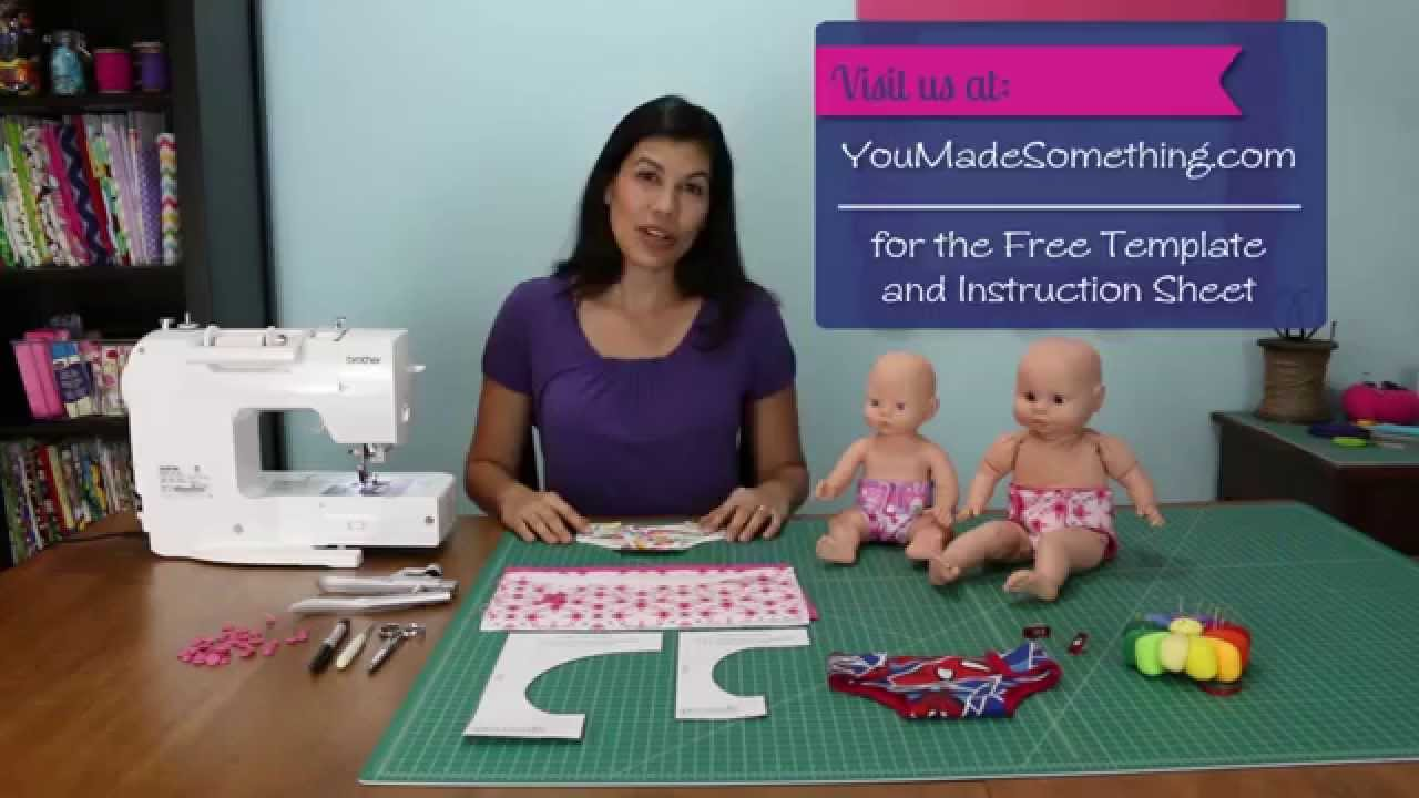 How to Sew a Diaper for a Doll or Stuffed Animal - YouTube