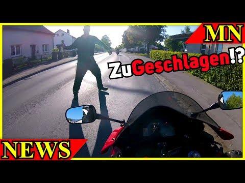 Feuerwehrmann attackiert Motorradfahrer?