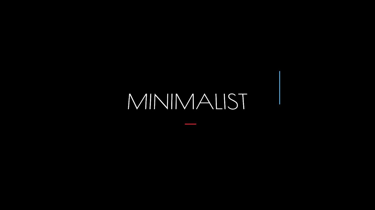 Free 2d Blender Intro Template Minimalist Tutorial