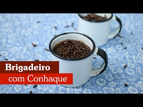 BRIGADEIRO MOLE COM CONHAQUE, UMA DELÍCIA!
