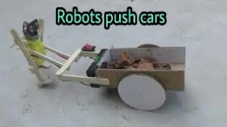 Robots Push Cars / How To Make Robots Push Cars Fast And Strong [newcd]