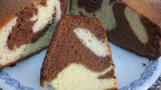 Como hacer una Torta Marmolada. Sin Batidora