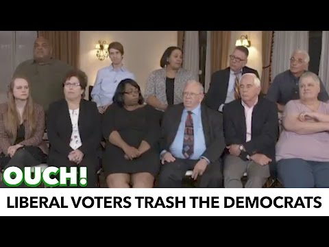 Liberal Voters Trash The Democratic Party On