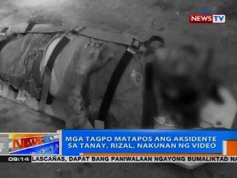 NTG: Mga tagpo matapos ang aksidente sa Tanay, Rizal, nakunan ng video