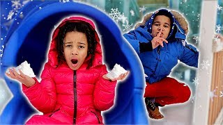 HIDE & SEEK IN THE SNOW | FamousTubeKIDS