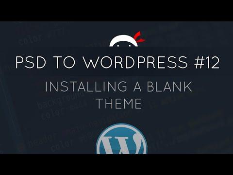WordPress blank theme