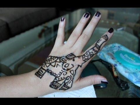 Elephant Design Mehndi Henna Youtube