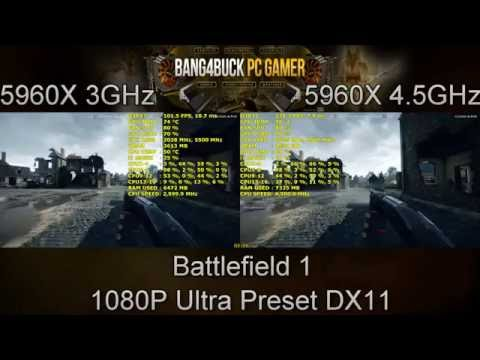 How Does CPU Speed Affect Gaming 3GHz Vs 4.5GHz | intel i7 5960X | GTX 1080 FE