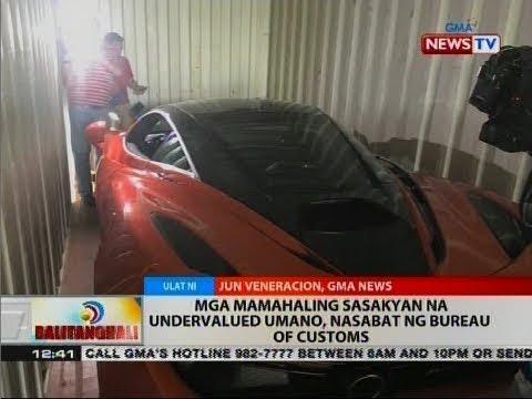 BT: Mga mamahaling sasakyan na undervalued umano, nasabat ng Bureau of Customs