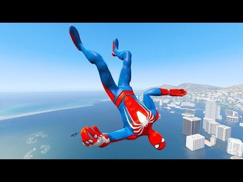 GTA 5 Water Ragdolls | SPIDERMAN Jumps/Fails #6 (Euphoria Physics)