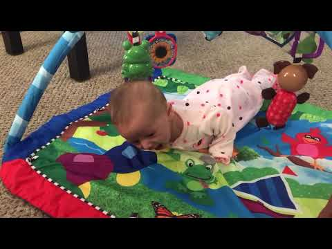 Gracie working hard at trying to crawl! - 13 Weeks 3 Days Old (2)