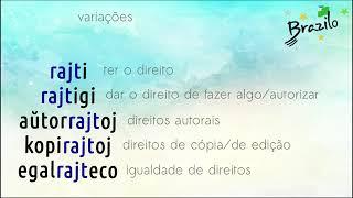 RAJTO substantivo em Esperanto