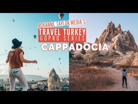 Cappadocia hot air balloons and underground cave city : Travel Turkey GoPro vlog 7