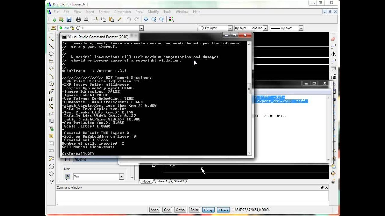 QuickTrans - Convert DXF to TIFF - YouTube